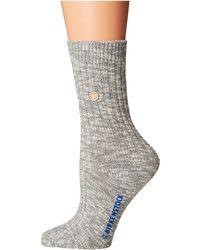 Birkenstock - Cotton Slub Socks (beige/white) Women's Crew Cut Socks Shoes - Lyst