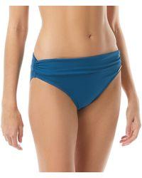 Vince Camuto Solid Convertible High-waist Bottoms Swimwear - Blue