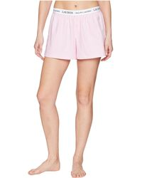 Lauren by Ralph Lauren - Logo Elastic Boxer (light Pink Tattersall) Women's Pajama - Lyst