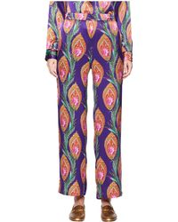 The Kooples - Long Trousers With A Hindu Flower Print (purple) Women's Casual Pants - Lyst
