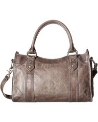 Frye - Melissa Satchel (cognac Antique Pull Up) Satchel Handbags - Lyst