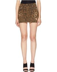 R13 - High-rise Mini Skirt (leopard) Women's Skirt - Lyst