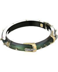 Alexis Bittar - Skinny Buckle Hinge Bracelet (deep Jade) Bracelet - Lyst
