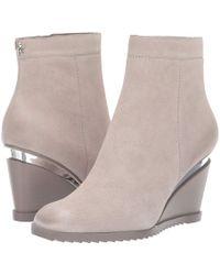 Donna Karan Dallas - Wedge Bootie (light Grey) Boots - Gray