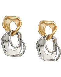 Rebecca Minkoff Organic Metal Drop Earrings - Metallic