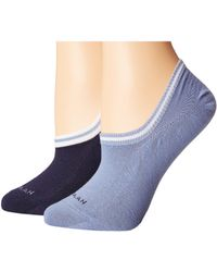 Cole Haan - 2-pair Sport Cuff Liner (marine Blue/english Manor) Women's Crew Cut Socks Shoes - Lyst