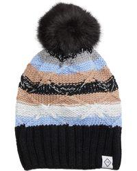 Vera Bradley Cozy Striped Knit Beanie - Black