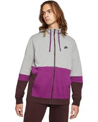 Nike - Nsw Full Zip Jersey Color-block Hoodie Clothing - Lyst
