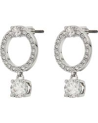 Swarovski Attract Circle Pierced Earrings Earring - Metallic