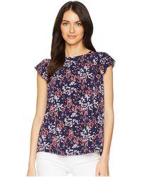 MICHAEL Michael Kors - Scatter Blooms Sleeveless Top (true Navy/bright Blush) Women's Sleeveless - Lyst
