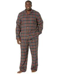 L.L. Bean Scotch Plaid Flannel Pajamas Tall - Multicolor