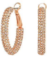 Vince Camuto - Pave Hinge Hoop Earrings (gold) Earring - Lyst