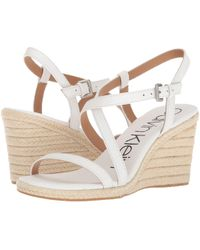 Calvin Klein - Bellemine Espadrille Wedge Sandal - Lyst