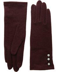 Lauren by Ralph Lauren - Three-button Touch Gloves (black) Wool Gloves - Lyst