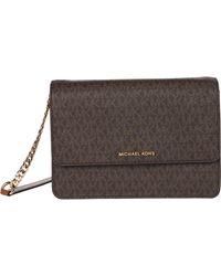 MICHAEL Michael Kors Daniela Large Gusset Crossbody Handbags - Brown