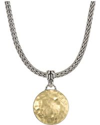 John Hardy - Hammered Reversible Pendant Necklace - Lyst