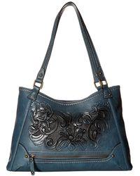 b.ø.c. Botanica Flower Amhearst Tote (charcoal/black) Tote Handbags - Blue