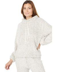 Dylan By True Grit Premium Soft Plush Pile Raglan Pullover Sweatshirt - White