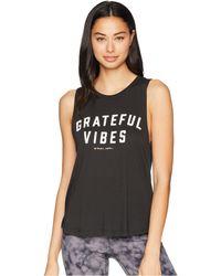 Spiritual Gangster - Grateful Vibes Muscle Tank Top (vintage Black) Women's Sleeveless - Lyst