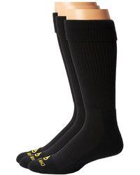 Dan Post - Cowboy Certified Over The Calf Socks 3 Pack (black) Men's Crew Cut Socks Shoes - Lyst