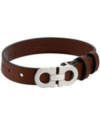 Ferragamo - Textured Bracelet - Lyst