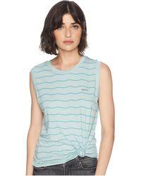 ae9f4c8b34141d RVCA - Va Stripe Tank Top (cloud Blue) Women s T Shirt - Lyst