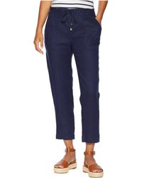 Lauren by Ralph Lauren - Petite Straight Linen Pants (navy) Women's Casual Pants - Lyst