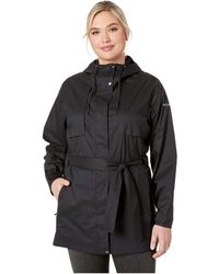 Columbia Plus Size Pardon My Trench Rain Jacket - Black
