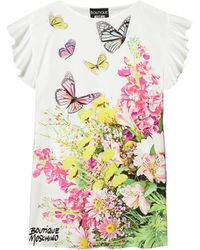 Boutique Moschino Floral Shift Dress - White