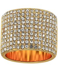 Vince Camuto Wide Band Pave Ring - Metallic