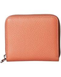 Ecco Sp 3 Small Zip Around Wallet - Orange