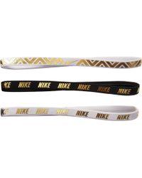 Nike - Metallic Hairbands 3-pack - Lyst