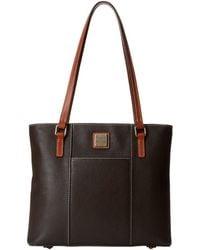 Dooney & Bourke - Pebble Leather New Colors Small Lexington Shopper (glacier Blue/tan Trim) Tote Handbags - Lyst