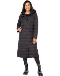 Lauren by Ralph Lauren Maxi Hooded Soft Down Coat - Black