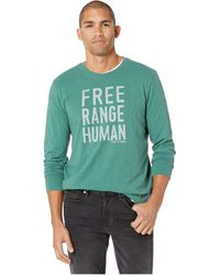 Life Is Good. - Free Range Human Crusher Long Sleeve T-shirt - Lyst