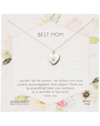 Dogeared Best Mom Crystal Heart Necklace Necklace - Metallic