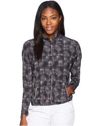 Jamie Sadock Hologram Print Sunsense(r) Full-zip Jacket With 50 Uvp (jet Black) Women's Coat