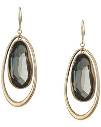 Robert Lee Morris - Stone Orbital Drop Earrings (black Diamond) Earring - Lyst