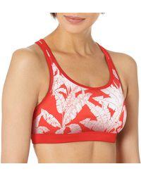 Body Glove Equalizer Medium Support Activewear Sport Bra - Red