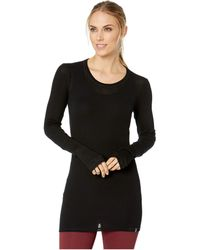 Icebreaker - Luxe Merino Rib Long Sleeve Crewe (black) Women's Clothing - Lyst
