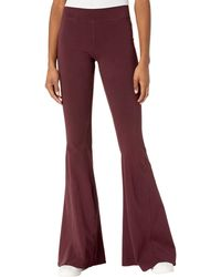 Hard Tail Hippie Chick Flare Pants Casual Pants - Red
