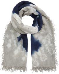 Chan Luu Cashmere And Silk Tie-dye Scarf Scarves - Blue