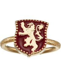 ALEX AND ANI Game Of Thrones, Lannister Signet Adjustable Ring, .925 Sterling Silver - Metallic