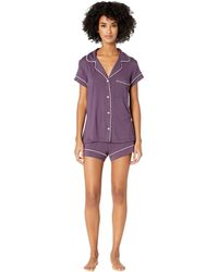 Eberjey - Gisele Short Pj Set In Purple - Lyst