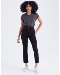 Abercrombie & Fitch Ultra High Rise Ankle Straight Jeans - Black
