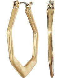 The Sak - Hex Shaped Hoop Earrings (gold) Earring - Lyst