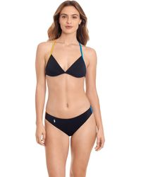 Polo Ralph Lauren Racing Stripe New French Bottoms Swimwear - Black