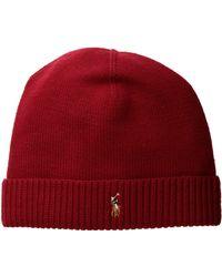 Polo Ralph Lauren | Classic Lux Merino Cuff Hat | Lyst