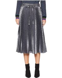 RED Valentino - Cloque Flower Skirt (grey) Women's Skirt - Lyst