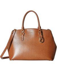 Lauren by Ralph Lauren - Bennington Double Zip Satchel (black) Satchel  Handbags - Lyst f526404886f2d